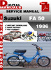 Thumbnail Suzuki FA 50 1986 Factory Service Repair Manual Pdf