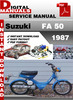 Thumbnail Suzuki FA 50 1987 Factory Service Repair Manual Pdf