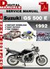 Thumbnail Suzuki GS 500 E 1992 Factory Service Repair Manual Pdf