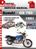 Thumbnail Suzuki GS 750 1981 Factory Service Repair Manual Pdf