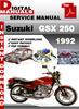 Thumbnail Suzuki GSX 250 1992 Factory Service Repair Manual Pdf