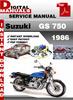 Thumbnail Suzuki GS 750 1986 Factory Service Repair Manual Pdf