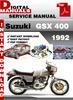 Thumbnail Suzuki GSX 400 1992 Factory Service Repair Manual Pdf
