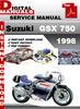 Thumbnail Suzuki GSX 750 1998 Factory Service Repair Manual Pdf