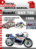Thumbnail Suzuki GSX 750 1999 Factory Service Repair Manual Pdf