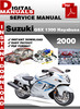 Thumbnail Suzuki GSX 1300 Hayabusa 2000 Factory Service Repair Manual