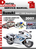 Thumbnail Suzuki GSX 1300 Hayabusa 2007 Factory Service Repair Manual