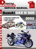 Thumbnail Suzuki GSX R 600 2002 Factory Service Repair Manual Pdf