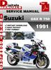 Thumbnail Suzuki GSX R 750 1991 Factory Service Repair Manual Pdf
