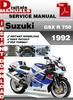 Thumbnail Suzuki GSX R 750 1992 Factory Service Repair Manual Pdf