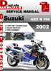 Thumbnail Suzuki GSX R 750 2002 Factory Service Repair Manual Pdf