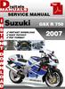 Thumbnail Suzuki GSX R 750 2007 Factory Service Repair Manual Pdf
