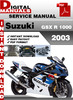 Thumbnail Suzuki GSX R 1000 2003 Factory Service Repair Manual Pdf