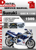 Thumbnail Suzuki GSX R 1100 1989 Factory Service Repair Manual Pdf