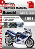 Thumbnail Suzuki GSX R 1100 1991 Factory Service Repair Manual Pdf