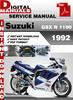 Thumbnail Suzuki GSX R 1100 1992 Factory Service Repair Manual Pdf
