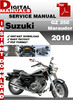 Thumbnail Suzuki GZ 250 Marauder 2010 Factory Service Repair Manual Pd