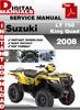 Thumbnail Suzuki LT 750 King Quad 2008 Factory Service Repair Manual P