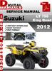 Thumbnail Suzuki LT 750 King Quad 2012 Factory Service Repair Manual P