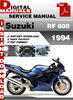 Thumbnail Suzuki RF 600 1994 Factory Service Repair Manual Pdf