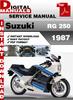 Thumbnail Suzuki RG 250 1987 Factory Service Repair Manual Pdf