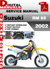 Thumbnail Suzuki RM 85 2002 Factory Service Repair Manual Pdf