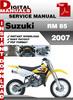 Thumbnail Suzuki RM 85 2007 Factory Service Repair Manual Pdf
