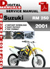 Thumbnail Suzuki RM 250 2001 Factory Service Repair Manual Pdf