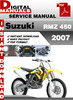 Thumbnail Suzuki RMZ 450 2007 Factory Service Repair Manual Pdf