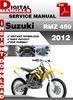 Thumbnail Suzuki RMZ 450 2012 Factory Service Repair Manual Pdf