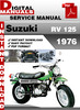 Thumbnail Suzuki RV 125 1976 Factory Service Repair Manual Pdf