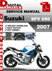 Thumbnail Suzuki SFV 650 2007 Factory Service Repair Manual Pdf