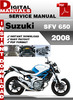 Thumbnail Suzuki SFV 650 2008 Factory Service Repair Manual Pdf
