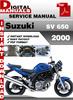Thumbnail Suzuki SV 650 2000 Factory Service Repair Manual Pdf