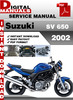 Thumbnail Suzuki SV 650 2002 Factory Service Repair Manual Pdf
