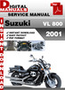 Thumbnail Suzuki VL 800 2001 Factory Service Repair Manual Pdf