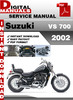 Thumbnail Suzuki VS 700 2002 Factory Service Repair Manual Pdf