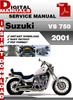 Thumbnail Suzuki VS 750 2001 Factory Service Repair Manual Pdf