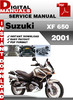 Thumbnail Suzuki XF 650 2001 Factory Service Repair Manual Pdf