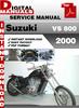 Thumbnail Suzuki VS 800 2000 Factory Service Repair Manual Pdf