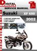 Thumbnail Suzuki XF 650 2002 Factory Service Repair Manual Pdf
