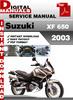 Thumbnail Suzuki XF 650 2003 Factory Service Repair Manual Pdf