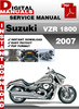 Thumbnail Suzuki VZR 1800 2007 Factory Service Repair Manual Pdf