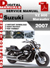 Thumbnail Suzuki VZ 800 Marauder 2007 Factory Service Repair Manual Pd