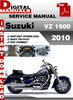 Thumbnail Suzuki VZ 1500 2010 Factory Service Repair Manual Pdf