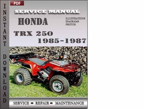 honda trx 250 1985 1987 service repair manual download honda trx350 manual shift honda trx250x manual download 1987-88