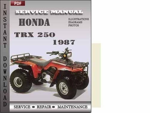 honda trx 250 1987 service repair manual download honda trx 250 manual pdf honda trx250x manual