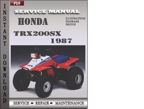 Free Honda Trx200sx 1987 Service Repair Manual Download Download thumbnail