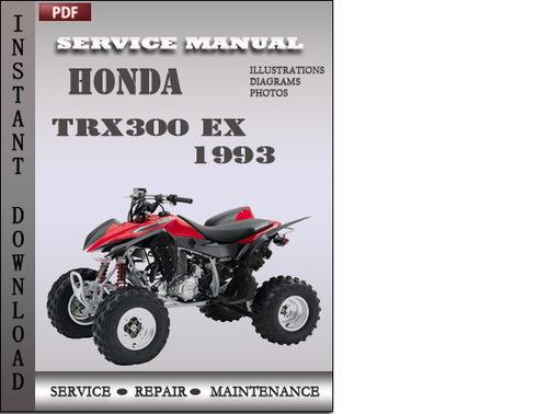 honda trx300 ex 1993 service repair manual download. Black Bedroom Furniture Sets. Home Design Ideas