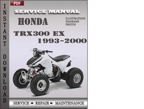 honda trx300 ex 1993 2000 service repair manual download. Black Bedroom Furniture Sets. Home Design Ideas